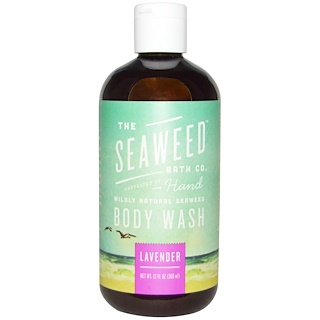 Seaweed Bath Co., Wildly Natural Seaweed Body Wash with Kukui Oil + Neem Oil, Lavender, 12 fl oz (360 ml)
