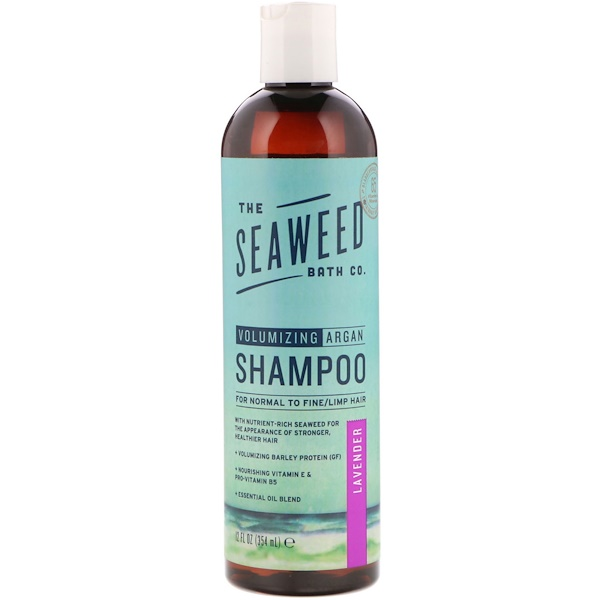 The Seaweed Bath Co., Volumizing Argan Shampoo, Lavender, 12 fl oz (354 ml) (Discontinued Item)