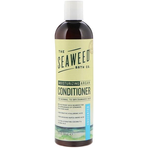 Seaweed Bath Co., Moisturizing Argan Conditioner, Unscented, 12 fl oz (354 ml)