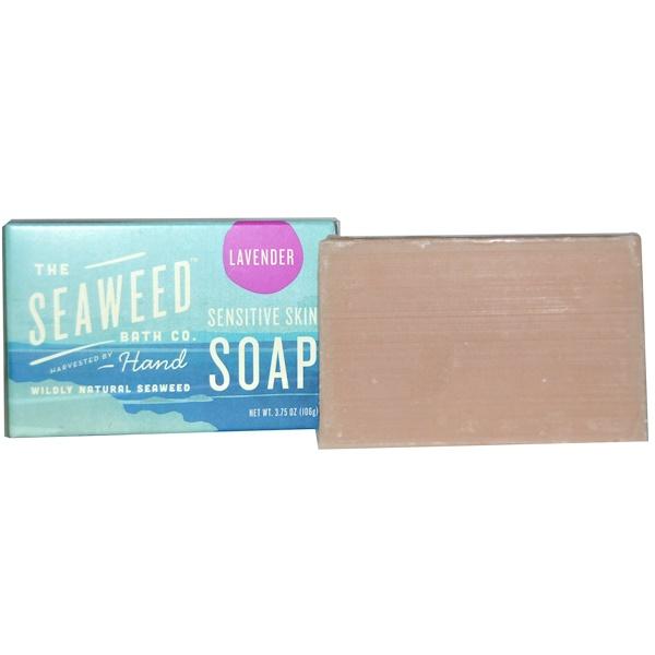The Seaweed Bath Co., Wildly Natural Seaweed Sensitive Skin Soap, Lavender, 2 oz (57 g) (Discontinued Item)