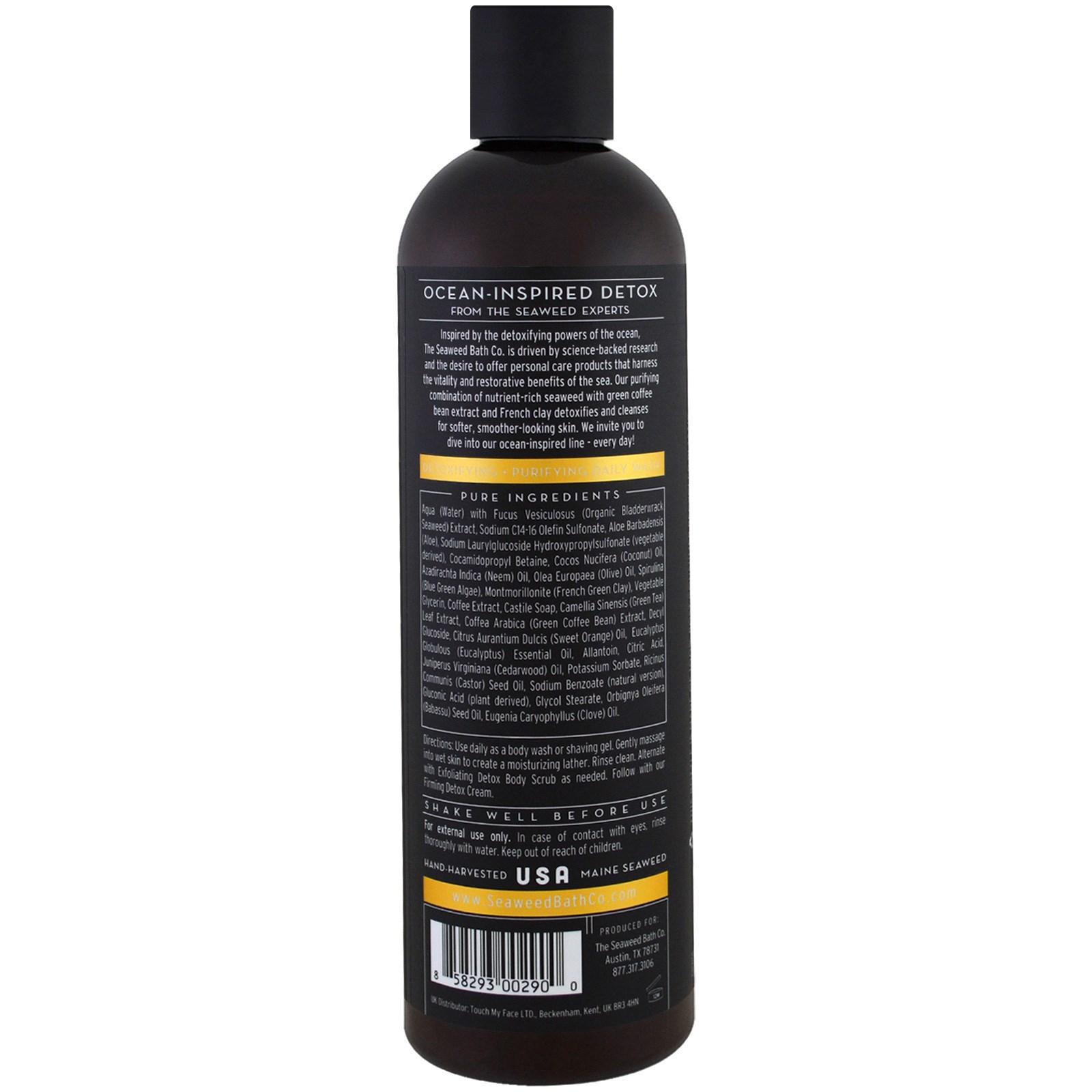 Seaweed Bath Co., Exfoliating Detox Scrub, Refresh, Orange, Eucalyptus & Cedar, 6 fl oz(pack of 2) Cowshed - Palmarosa Revitalising Face Mask - 50ml/1.69oz