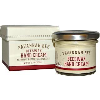 Savannah Bee Company Inc, Крем для рук с пчелиным воском, 3,4 унции (96 г)