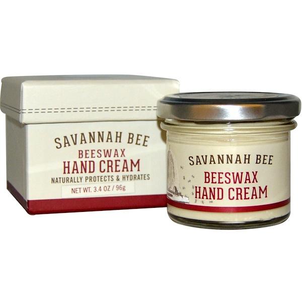 Savannah Bee Company Inc, Крем для рук с пчелиным воском, 3,4 унции (96 г) (Discontinued Item)