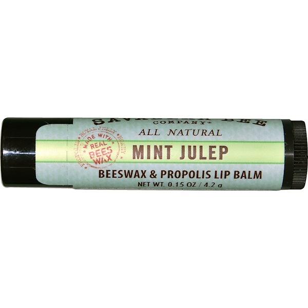 Savannah Bee Company Inc, Lip Balm, Mint Julep, 0、15 oz (4、2 g)