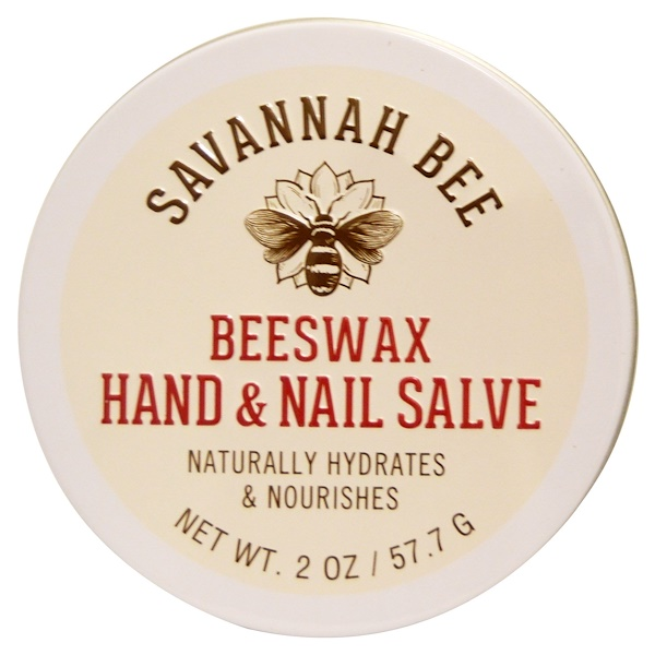 Savannah Bee Company Inc, Organic, Beeswax Hand and Nail Salve, 2 oz (57、7 g)