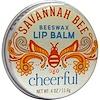 Savannah Bee Company Inc, Beeswax Lip Balm, Cheerful, Mango Citrus, .4 oz (11.4 g) (Discontinued Item)
