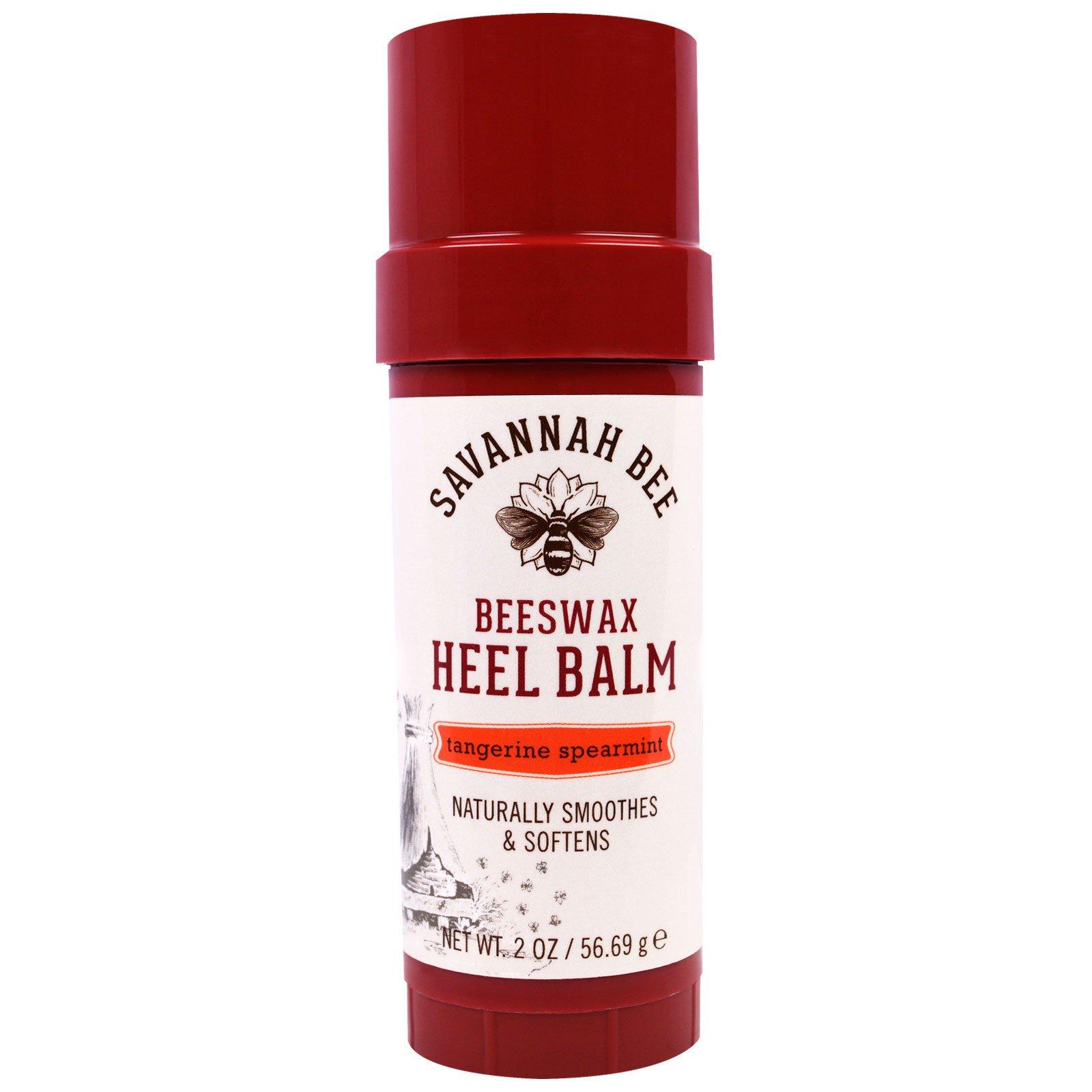 Savannah Bee Company Inc, Бальзам для ног на основе пчелиного воска с ароматом мандарина и мяты, 2 унции (56,69 г)