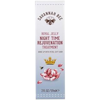 Savannah Bee Company Inc, Ночное средство для омоложения с маточным молочком, 2 жидкие унции (59 мл)