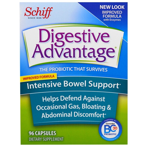 Digestive Advantage, Intensive Bowel Support, 96 Capsules