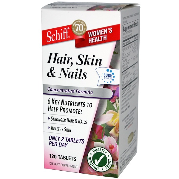 Schiff, Hair, Skin & Nails, 120 Tablets (Discontinued Item)