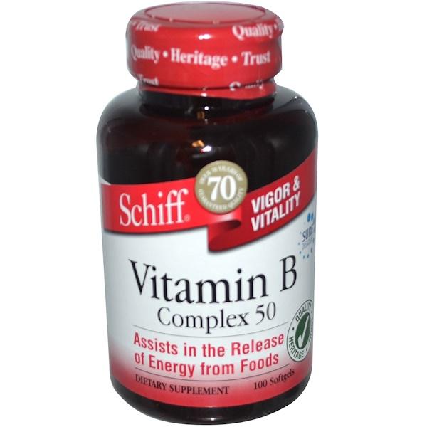 Schiff, Vitamin B Complex 50, 100 Softgels (Discontinued Item)