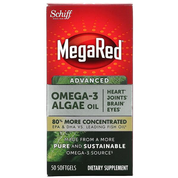 Schiff, MegaRed, Advanced Omega-3 Algae Oil, 50 Softgels