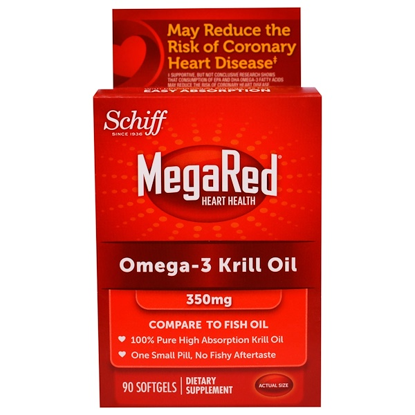 Schiff, MegaRed, Omega-3 Krill Oil, 350 mg, 90 Softgels (Discontinued Item)