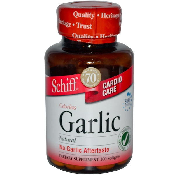 Schiff, Garlic, 100 Softgels (Discontinued Item)