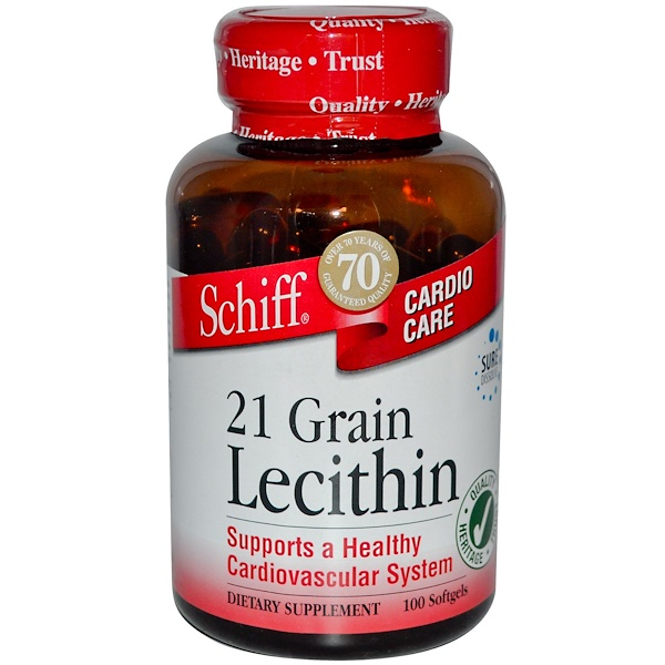 Schiff, 21 Grain Lecithin, 100 Softgels (Discontinued Item)