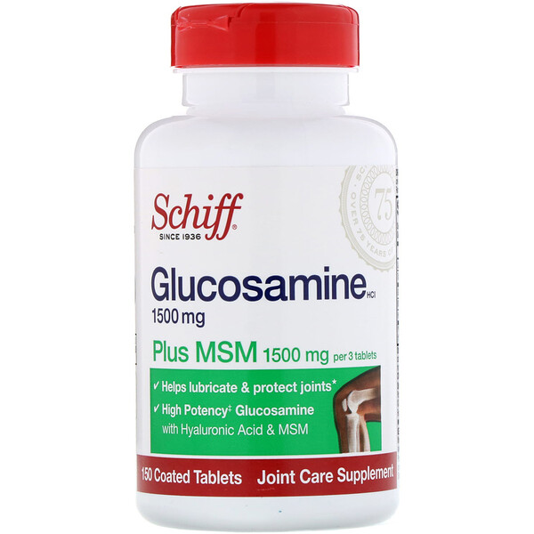 Glucosamine Plus MSM, 1500 mg, 150 Coated Tablets