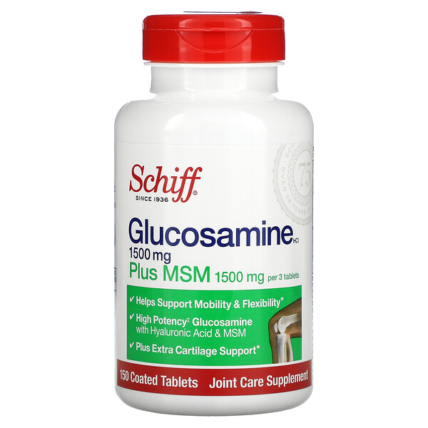 Glucosamine Plus MSM, 500 mg, 150 Coated Tablets