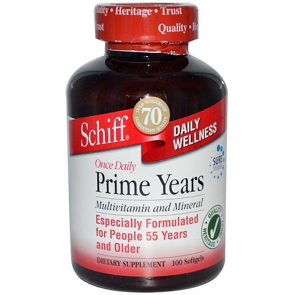 Schiff, Prime Years, Once Daily, Multivitamin and Mineral, 100 Softgels (Discontinued Item)