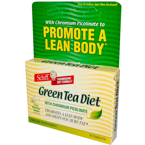 Schiff, Green Tea Diet with Chromium Picolinate, 30 Tablets (Discontinued Item)