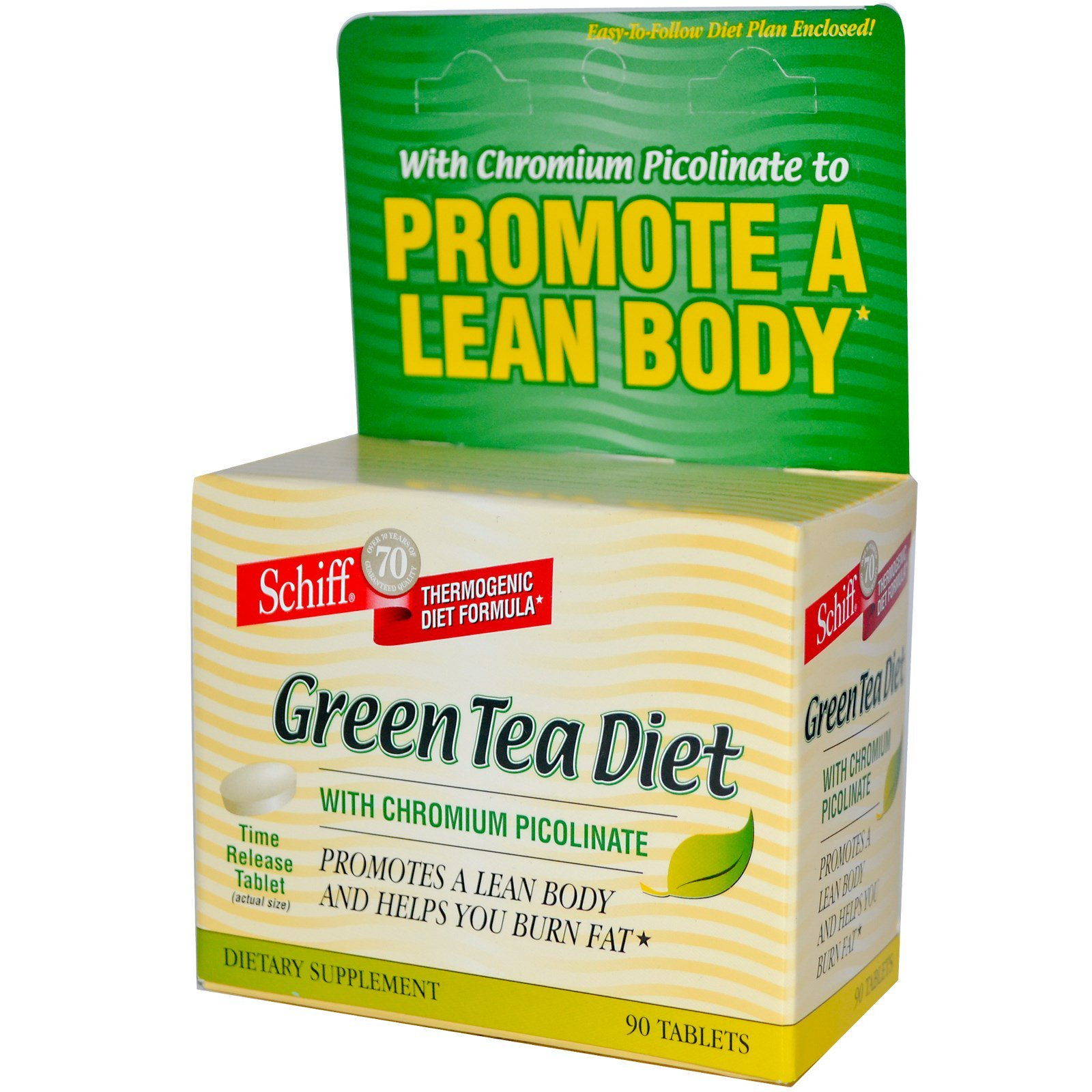 Schiff Green Tea T With Chromium Picolinate 90 Tablets Discontinued Item