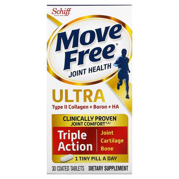 MoveFree, Suplemento para la salud de las articulaciones, Ultra, Triple acción, 30comprimidos recubiertos