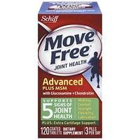 Move Free, здоровье суставов, глюкозамин, хондроитин и МСМ, 120таблеток, покрытых оболочкой - фото