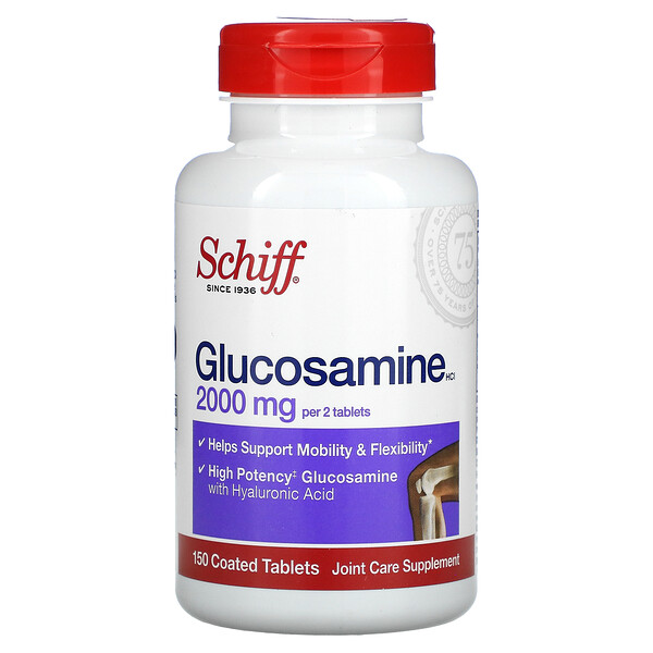 글루코사민HCl, 1,000mg, 코팅 정제 150정