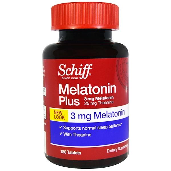 Schiff, Melatonin Plus, 3 mg, 180 Tablets (Discontinued Item)