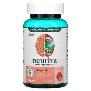 Schiff, Neuriva Brain Performance, Original, Strawberry, 50 Gummies