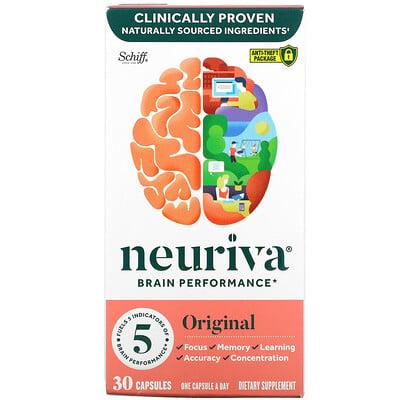 Schiff Neuriva Brain Performance, Original, 30 Capsules