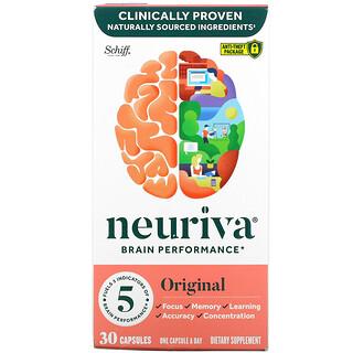 Schiff, Neuriva Brain Performance, Original, 30 Capsules