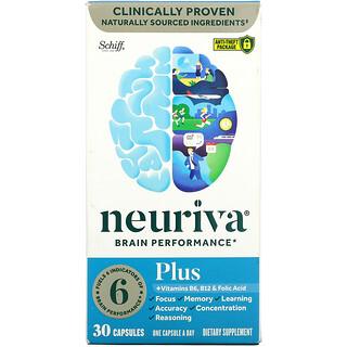Schiff, Neuriva Brain Performance, Plus, 30 Capsules