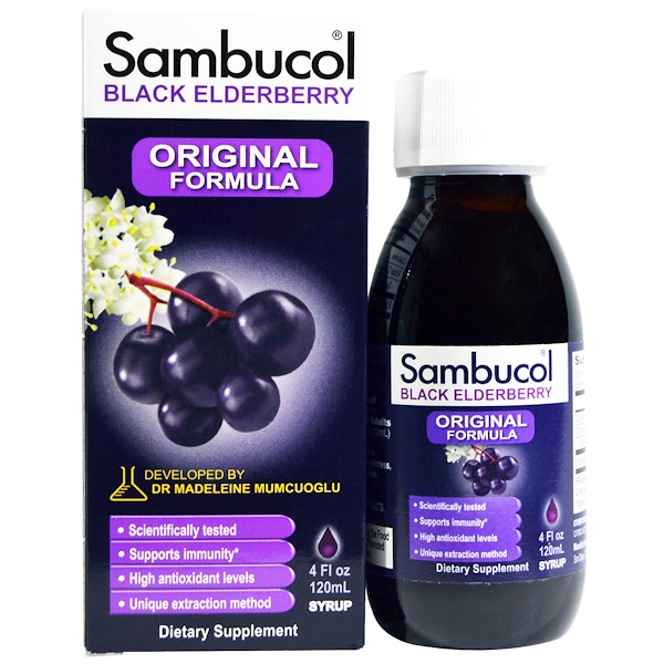 Sambucol, Black Elderberry, Original Formula, 4 fl oz (120 ml)