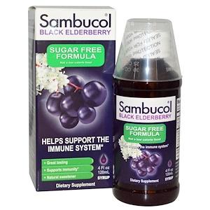 Sambucol, Сироп черной бузины без сахара, 120 мл