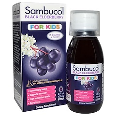 Sambucol, Black Elderberry, Immune System Support, For Kids, Syrup, 4 fl oz (120 ml)