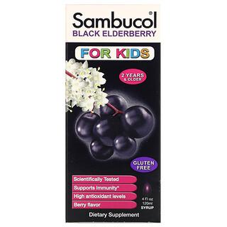 Sambucol, 兒童專用黑接骨木糖漿,漿果味,4 液量盎司(120 毫升)