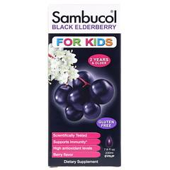 Sambucol, 블랙 엘더베리 시럽, 어린이용, 딸기 맛, 7.8fl oz(230ml)