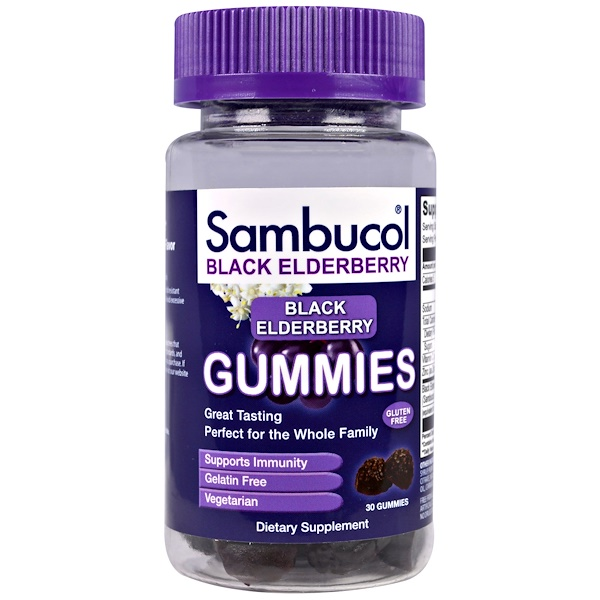 Sambucol, Sambucol, Black Elderberry, 30 Gummies