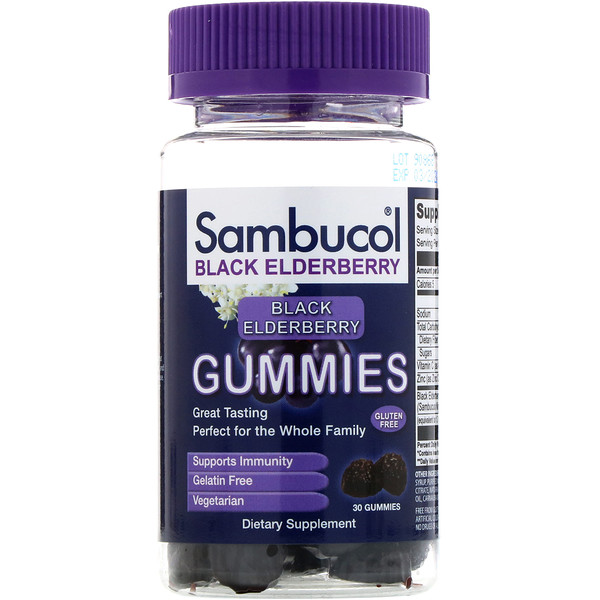 Sambucol, Saucos, saúco negro, 30 gomitass