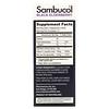 Sambucol, 블랙 엘더베리 시럽, 향상된 면역력, 비타민 C + 아연, 천연 베리, 120ml(4fl oz)