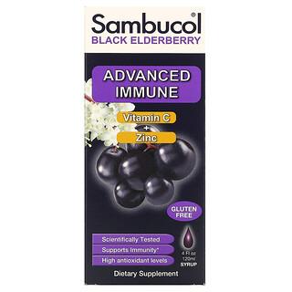 Sambucol, Сироп из черной бузины, усовершенствованная поддержка иммунитета, витаминC+цинк, натуральные ягоды, 120мл (4жидк.унции)