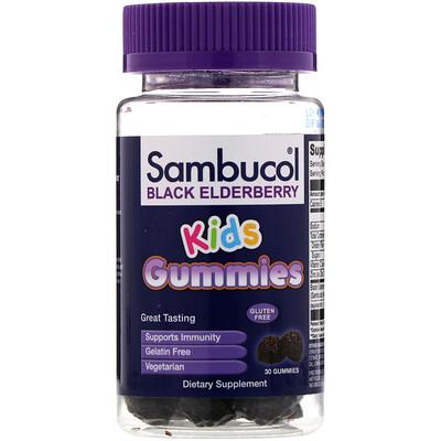 Купить Sambucol Черная бузина, жевательные таблетки для детей, 30шт.