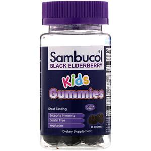 Sambucol, Black Elderberry, Kids Gummies, 30 Gummies
