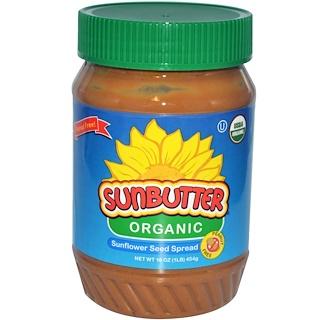 SunButter, オーガニック サンフラワーシード・スプレッド、16 oz (454 g)