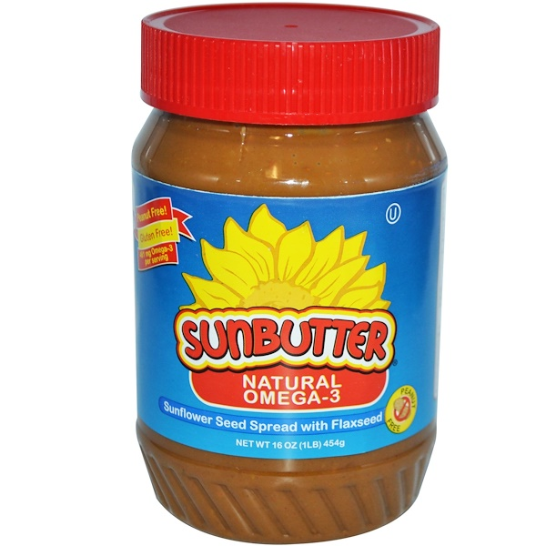 SunButter, Natural Omega-3, Sunflower Seed Spread with Flaxseed, 16 oz (454 g) (Discontinued Item)