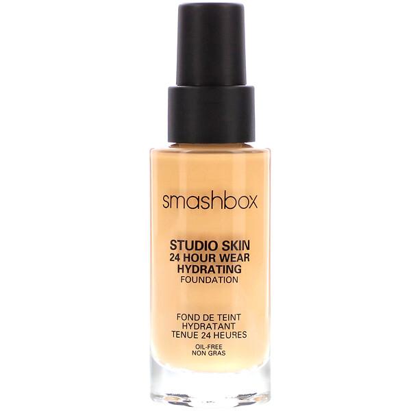 Smashbox, Studio Skin 24 Hour Wear Hydrating Foundation 2.1 Light with Warm Peach Undertone, 1 fl oz (30 ml)