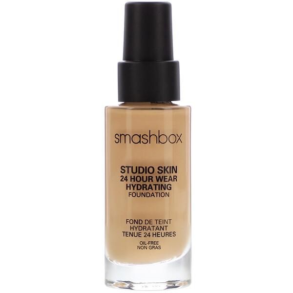 Smashbox, Studio Skin 24 Hour Wear Hydrating Foundation, 2.2 Light Medium With Warm Peach Undertone, 1 fl oz (30 ml)