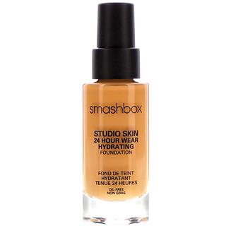 Smashbox, Studio Skin 24 Hour Wear Hydrating Foundation, 3.2 Medium Dark with Neutral Undertone, 1 fl oz (30 ml)