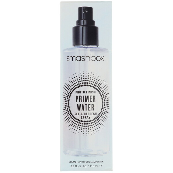 Smashbox, Photo Finish Primer Water, Set & Refresh Spray, 3.9 fl oz (116 ml)