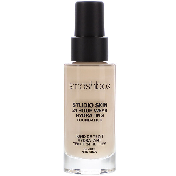 Studio Skin 24 Hour Wear Hydrating Foundation, 0.3 Fair with Neutral Undertone, 1 fl oz (30 ml)
